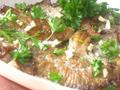 Жаренные грибы вешенки под соевым соусом с чесноком