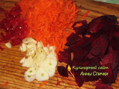 готовим овощи для маринования