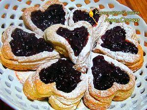 Печенье сердечки ко дню Святого Валентина