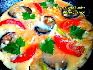 Как приготовить омлет с сыром и овощами