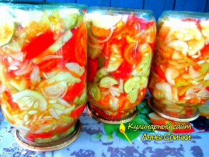Консервируем салат из огурцов и помидор