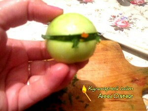 Начинка для зеленых помидор