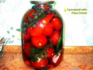 Как приготовить помидоры с виноградом