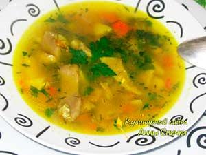 Суп с вешенками