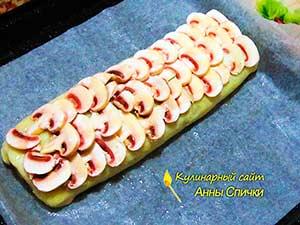 Как приготовить картофельный рулет с грибами - шаг 5