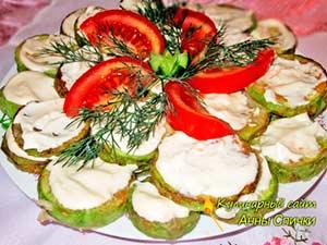 Жаренные кабачки с чесноком