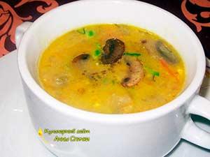 Сырный суп-пюре сшампиньонами