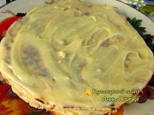 Творожный торт на сковороде готов
