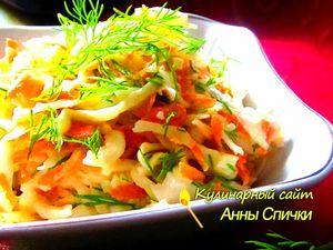 Салат из свежей капустыс морковью