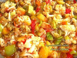 Тушеные овощи с картошкой