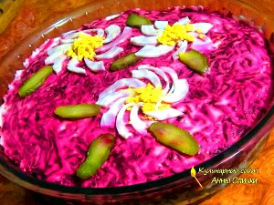 Салат шуба без селедки