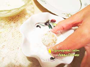 Как сделать пирожное снеговики - шаг - 4