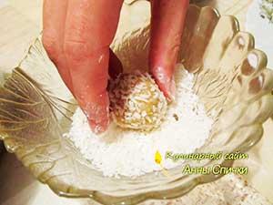Как сделать пирожное снеговики - шаг - 5