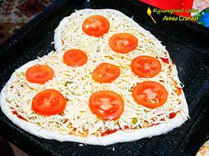 Как приготовить пиццу сердцем шаг 3