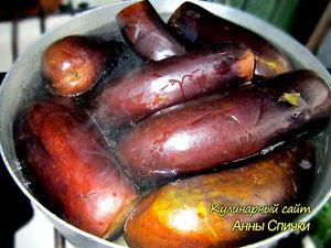 Квашеные баклажаны с капустой и морковью - подготовка