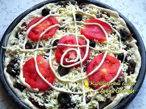 Готовим тесто для грибной пиццы