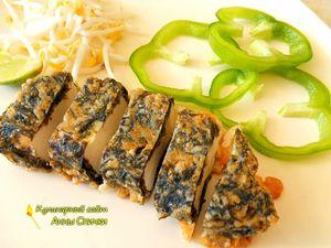 Вегетарианская рыба: сыр в нори