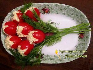 Как сделать тюльпаны из помидор