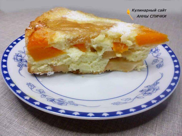 Вкусный пирог с тыквой и яблоками