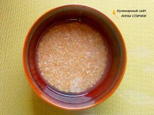 Вегетарианский суп с пшеничной крупой