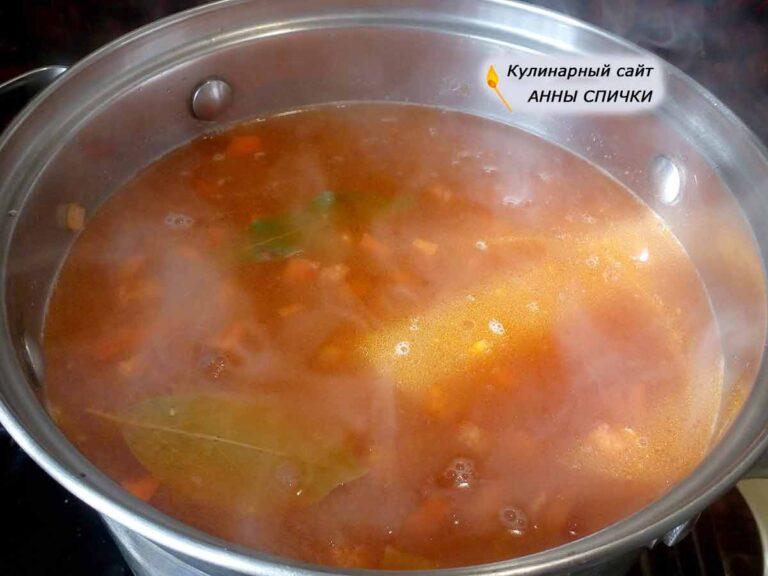 Суп с пшеничной крупой без мяса