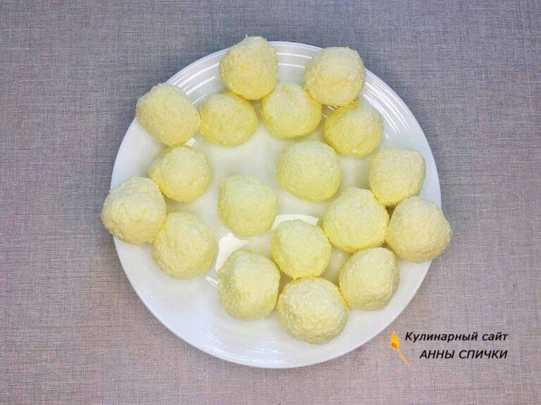 Творожные шарики для пирога
