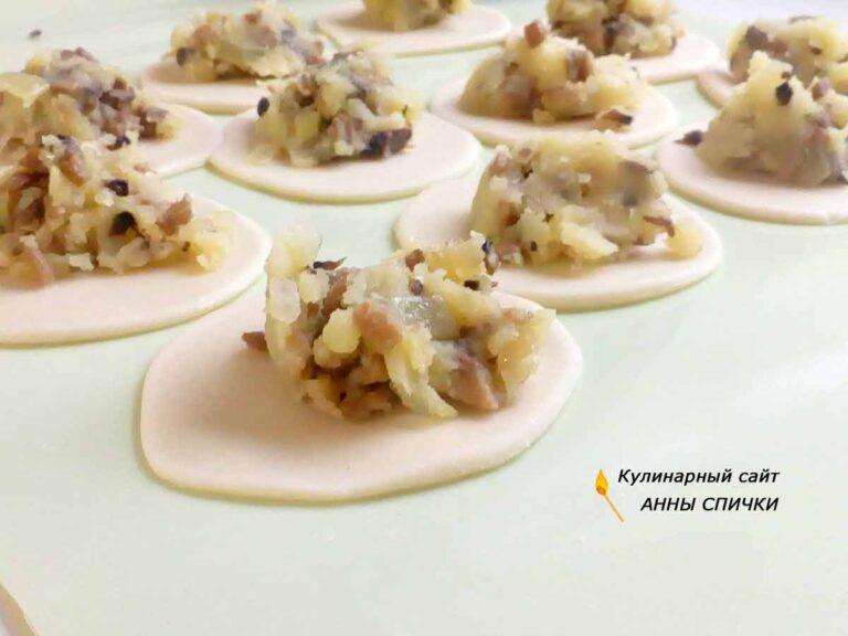 Вареники с картошкой и грибами пошаговый рецепт с фото