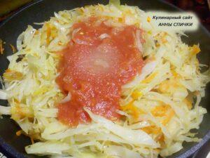 Как тушить капусту с томатным соком