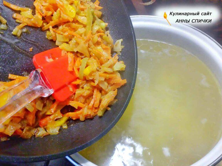 Как делается суп с галушками