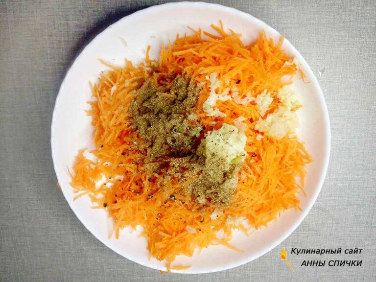 Как сделать начинку для закусочных голубцов с морковью