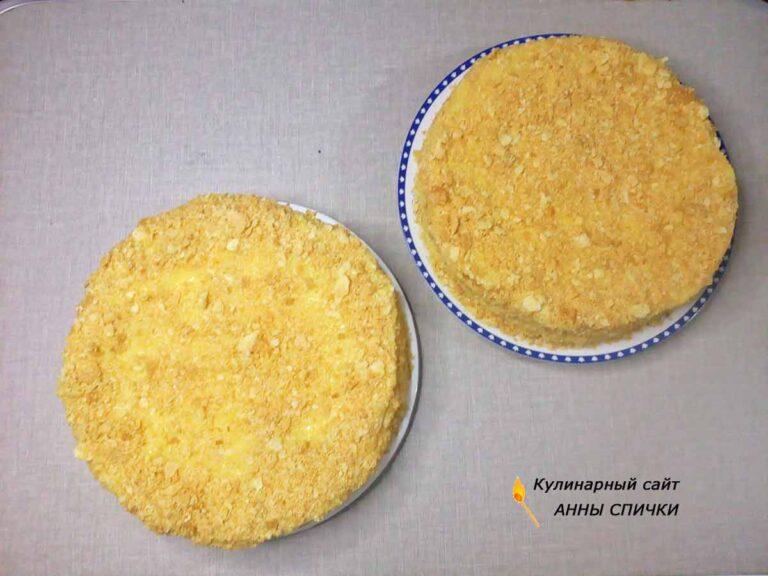 Торт наполеон с масляным кремом