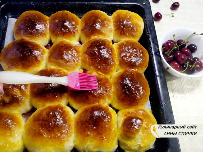 Пирожки с вишней в духовке рецепт с фото