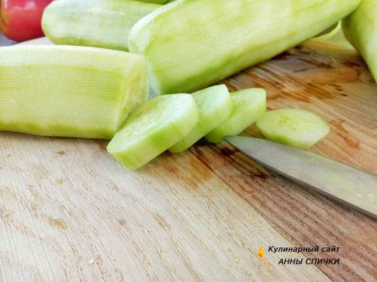 Салат из огурцов и помидор на зиму как свежий