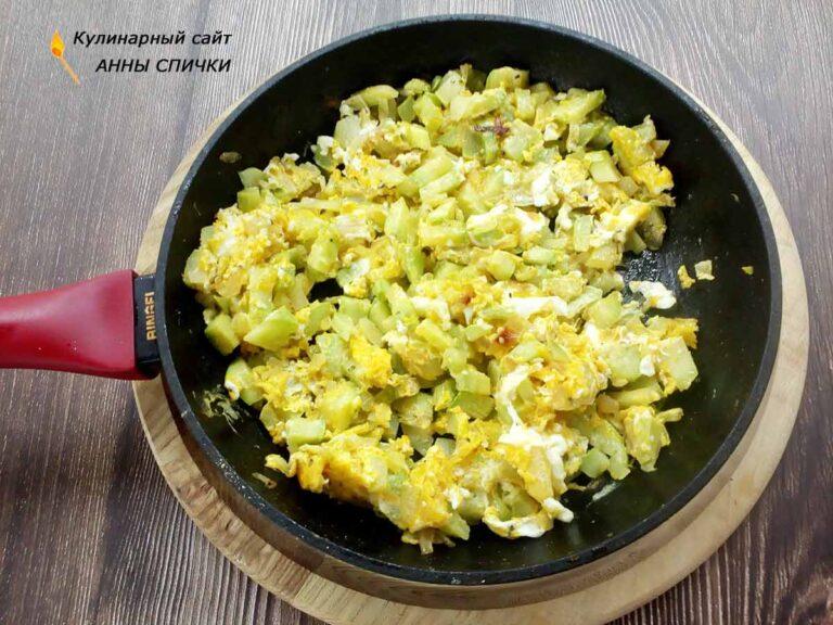 Кабачки с яйцом на завтрак ПП