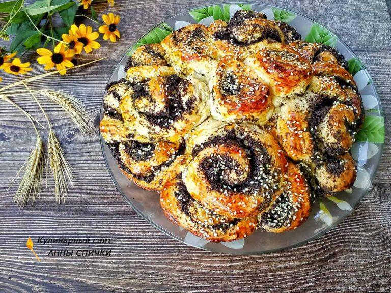 Маковый пирог цветок