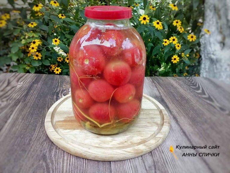 Квашенные помидоры с чесноком и укропом