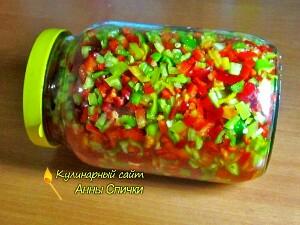 Болгарский перец с солью на зиму