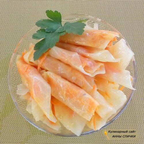 Маринованные голубцы с морковью рецепт