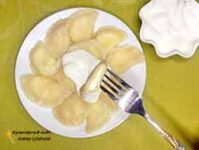 Вкусные вареники с соленым творогом