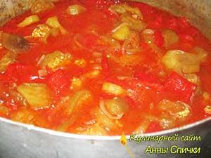 Как приготовить баклажаны в томатном соке