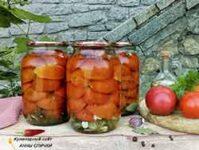 Маринованные помидоры половинками в литровых банках