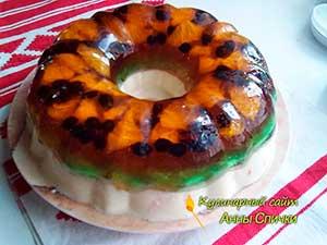 Торт зефирно желейный