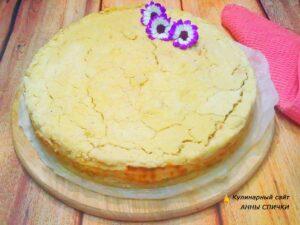 Пирог песочное тесто и творог