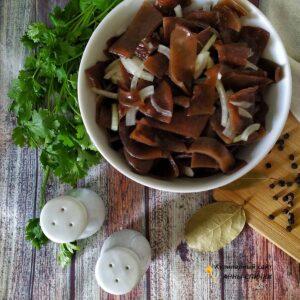 Древесные грибы по-корейски
