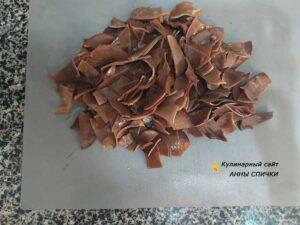 Режем и чистим древесные грибы муэр