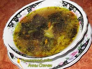 Грибной суп с муэр