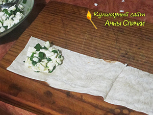 Как сворачивать пирожок из лаваша