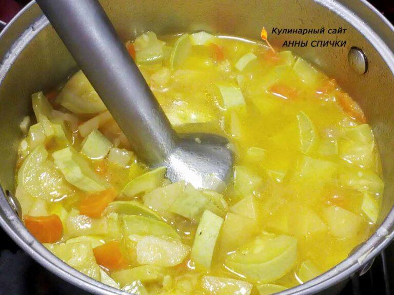 Суп из кабачков постный