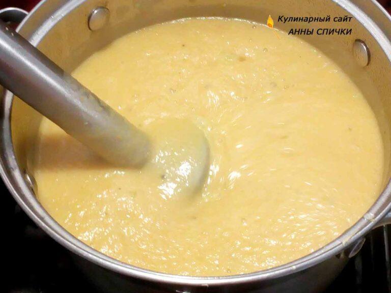 Суп пюре из кабачков с картофелем и морковью