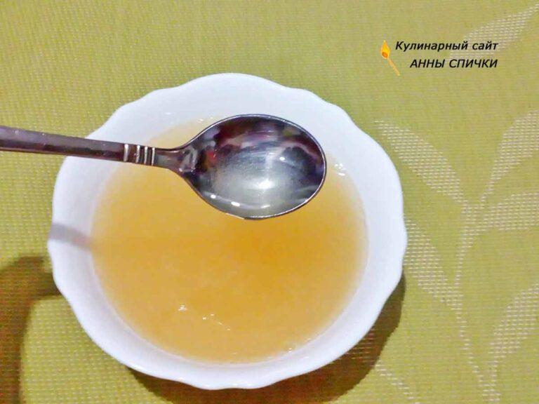 Растопить желатин в микроволновке